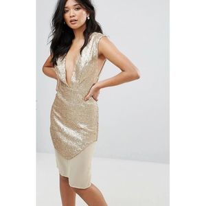 Glamorous Sequin Gold Dress 16